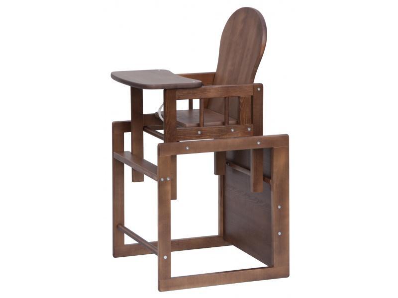 Jídelní židlička Scarlett Kombi, masiv borovice - wenge