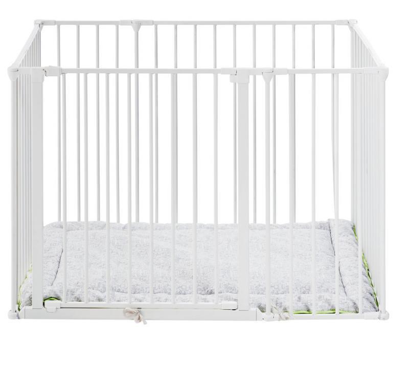 Ohrádka BabyDan Square playpen bílá + matrace