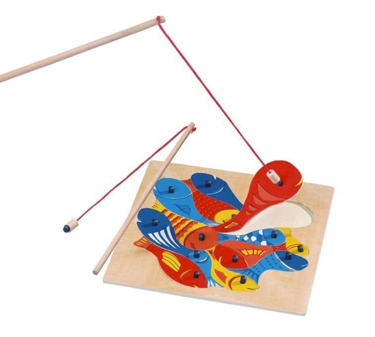 Bino Magnetická hra Aquari - puzzle rybičky s udičkou