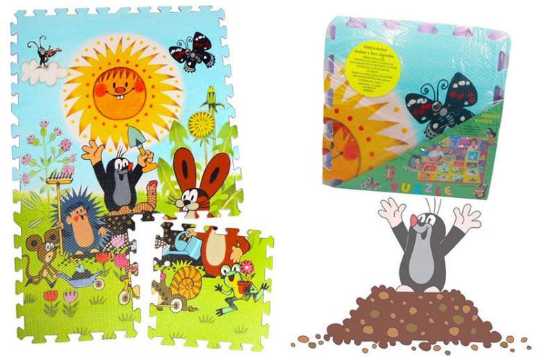 Pěnové puzzle Krtek 30x30 6ks