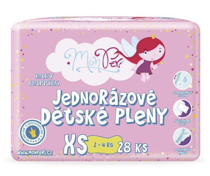 MonPeri Dětské pleny XS (2-4 kg) 28 ks