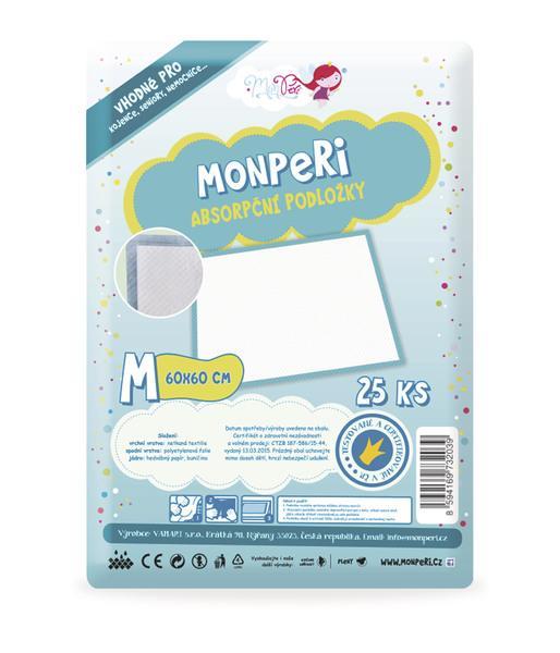 MonPeri Absorpční podložky M (60x60 cm) 25 ks