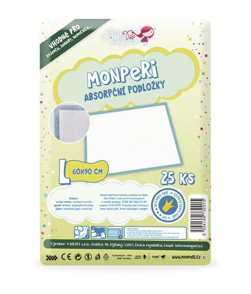 MonPeri Absorpční podložky L (60x90 cm) 25 ks