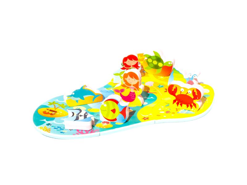 Meadow Kids Puzzle do vany/bazénku Mořská panna