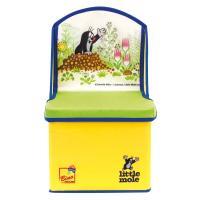 Bino Krteček krabice na hračky židlička žlutá 2v1