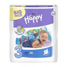 Bella Happy Midi (5-9 kg) Big Pack 72 ks - jednorázové pleny