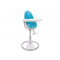 Jídelní židlička Bloom Fresco Chrome bílá, bez podložky