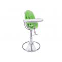 Jídelní židlička Bloom Fresco Chrome stříbrná, bez podložky