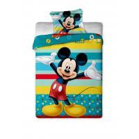 Jerry Fabrics Bavlněné povlečení Mickey tyrkys 140x200 cm