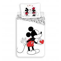 Jerry Fabrics Bavlněné povlečení Mickey heart 2016 140x200 cm