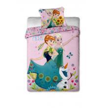 Jerry Fabrics Bavlněné povlečení Frozen sweet pink Ledové království 140x200 cm