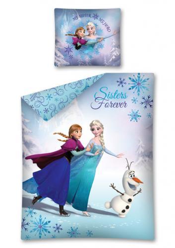 Detexpol Bavlněné povlečení Frozen Ledové Království Anna a Elsa 140x200 cm