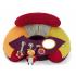 Polštářek pro větší pohodlí při hraní v sedě na zemi. Snímatelný panel nabízí dítěti různorodé aktivity ke zkoumání - bezpečné zrcátko, chrastítka a kousátka. Polštářek má potah, který je možné prát a nafukovací výplň.