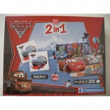 Clementoni EDUkit - Cars2 2v1 (pexeso, puzzle)