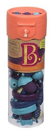 B.toys Spojovací korále a tvary Beauty Pops 50 ks modré/fialové