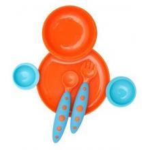 Boon Kompletní jídelní sada pro děti modro-oranžová
