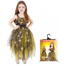 Karnevalový kostým čarodějnice/halloween zlatá, vel. M