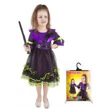 Karnevalový kostým čarodějnice/halloween fialová, vel. M