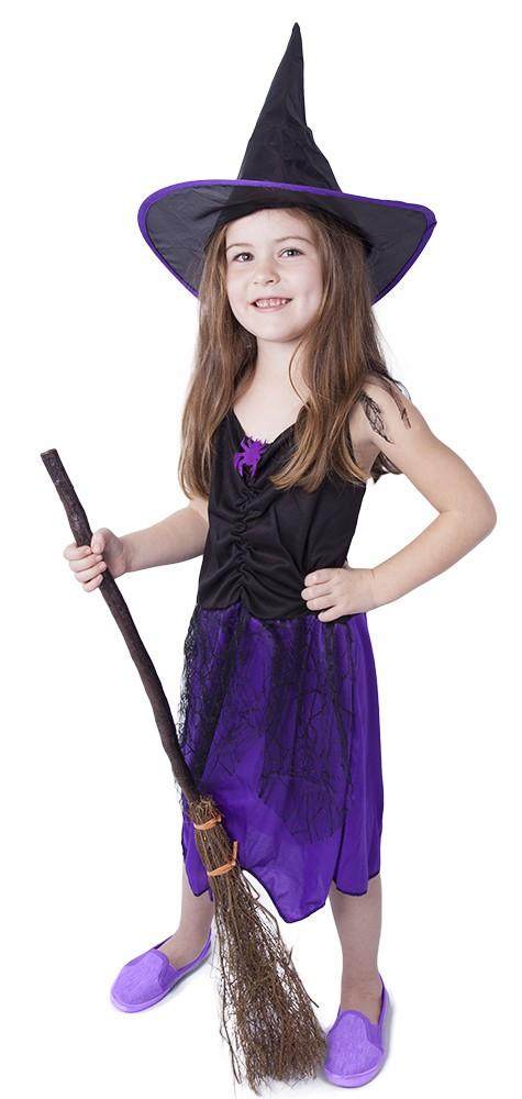 ce39d55dc Roztomilý karnevalový kostým s motivem čarodějky. Souprava obsahuje šaty a  klobouk. Set ve velikosti
