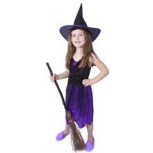 Karnevalový kostým čarodějnice/halloween s kloboukem 850903, vel. S