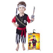 Karnevalový kostým pirát s šátkem, vel. M