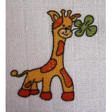 LTZ - Bavlněné osušky 90x100 cm potisk Žirafa, 2 ks