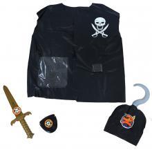Karnevalový kostým sada vesta pirátská s přislušenstvím, dětská