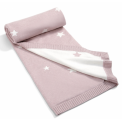 Mamas & Papas Pletená deka Millie & Boris růžová