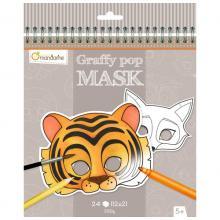 Avenue Mandarine, Karnevalové masky k vymalování Zvířátka