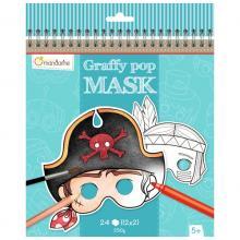 Avenue Mandarine, Karnevalové masky k vymalování pro kluky