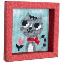 Avenue Mandarine, Dětské vyšívání s rámečkem Kočička