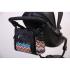 Přebalovací taška Nola je krásná a praktická zároveň. Dvě termoizolační kapsy na lahvičky a  přebalovací podložka součástí tašky.