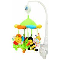 Canpol babies kolotoč plyšový s baldachýnem luční zvířátka