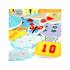 Sada hraček do vany obsahuje 10očíslovaných balónů adalších 11dílků. Jednotlivé dílky plavou na hladině apo navlhčení je možné je přichytit na dlaždičky nad vanou.
