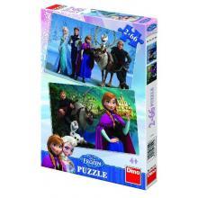 Dino Puzzle 2x66 Frozen - Ledové království