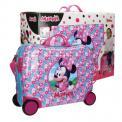 Joummabags Dětský kufřík na kolečkách Minnie pink MAXI 50 cm
