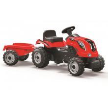 Smoby Šlapací traktor Farmer XL červený s vozíkem
