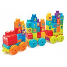 Mattel Mega Bloks Vláček s písmenky