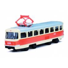 Rappa Unikátní kovová tramvaj 16 cm na zpětný chod v CZ obalu