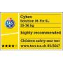 Autosedačka Solution M-fix, skupina II/III, s isofixem 15 - 36 kg, od cca 3 až do 12 let. Optimální ochrana pro starší děti.