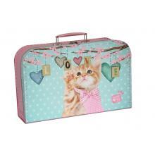 Kazeto Kufřík Kočička Ginger růžovo/zelený 35 cm