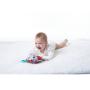 Měkká textilní hračka Tiny Love v podobě barevného ježečka chrastí ašustí askáče na pružné šňůrce.