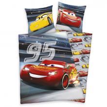 Herding Bavlněné povlečení Cars 3 Svítící ve tmě 140x200 cm