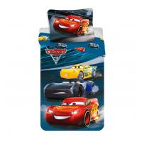 Jerry Fabrics Bavlněné povlečení Cars 3 night race 140x200 cm