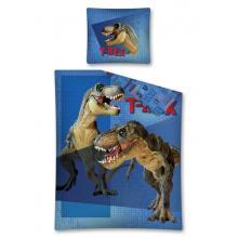 Detexpol Bavlněné povlečení Tyranosaurus Rex modrá 140x200 cm