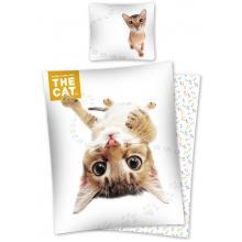 Detexpol Bavlněné povlečení The Cat Habešská kočka 140x200 cm