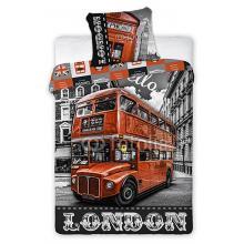 Faro Bavlněné povlečení London Bus ulice 140x200 cm