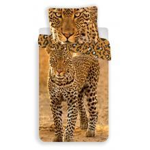 Jerry Fabrics Bavlněné povlečení Leopard 2017, 140x200 cm