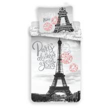 Jerry Fabrics Bavlněné povlečení Paříž Good Idea, 140x200 cm