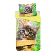 Jerry Fabrics Bavlněné povlečení Kočka mourek 140x200 cm